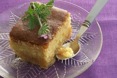 Revani – Greek Almond Cake with Syrup Greek Sweets, Greek Desserts, Greek Recipes, Greek Pastries, Blanched Almonds, Greek Cooking, Classic Cake, Moussaka, Loaf Cake