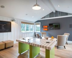 Ping Pong Table Home Design Ideas, Pictures, Remodel and Decor