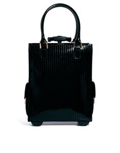 Ted Baker Barley Black Quilted Enamel Trolley Bag