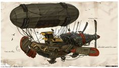 ArtStation - Civilian logistics Airship, Michal Kus