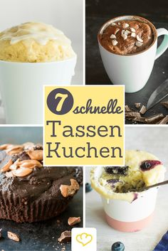 7 schnelle Tassenkuchen aus der Mikrowelle Take a break! Best with a quick cup cake! But not with a finished product from the bag, but with one of these 7 simple recipes with fresh ingredients! Easy Bread Recipes, Baking Recipes, Sweet Recipes, No Bake Desserts, Delicious Desserts, Yummy Food, Sweet 16 Cakes, Micro Onde, Recipes From Heaven