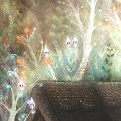 Peta's House (detail) by Lisa Evans. Lisa Evans, Fictional World, Animal Wallpaper, Moon Art, Illustration Art, Book Illustrations, Fairy Tales, Concept Art, Artsy