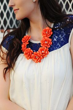 Bali flower necklace - other colors available
