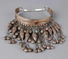 Yemen or Saudi Arabia | Choker necklace; silver alloy. ca. mid 20th century // ©British Museum. 2008,6034.2