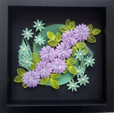 Paper Quilling home interior Quilling panel lilac flowers image 0 Sunflowers And Daisies, Lilac Flowers, Spring Flowers, Paper Flowers, Paper Quilling Designs, Quilling Patterns, Quilling Art, Succulent Wall Art, Cactus Wall Art
