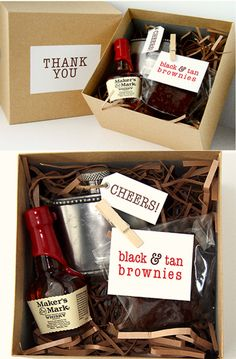 cool gift for groomsmen or bridesmaids :) For girls just change to mini bottle of champagne etc