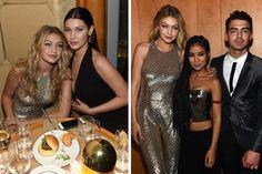 Hadid sisters // Gigi Hadid, Jhene Aiko and Joe Jonas