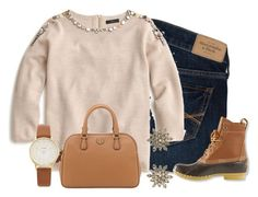 """""""//crisp leaves crunching//"""" by kadynpleasnts ❤ liked on Polyvore featuring Abercrombie & Fitch, J.Crew, L.L.Bean, Kate Spade, Tory Burch and Accessorize"""