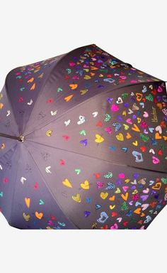 Moschino Cheap & Chic Multicolor Umbrella | VAUNTE...Heart umbrella, how cute for your Valentine!