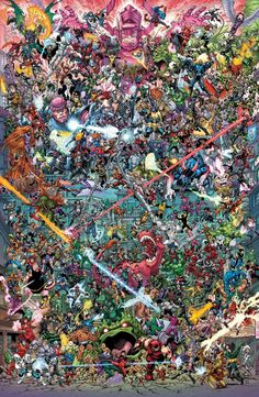 "Where's Wolverine?  Wolverine is the best at what he does and in this massive image made from Todd Nauck's four connecting ""Where's Wolverine?"" covers it appears that in addition to killing drinking and being grumpy he's also the best at hiding. Can you find him?   Art by Todd Nauck. (Marvel Comics)  The covers colored byRachelle Rosenberg will appear on these issues out in May as Marvel's heroes track Logan down after his mysterious return in last year's Marvel Legacy #1:  Continue reading…"