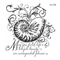 """Close to My Heart My Acrylix Stamp Set Quick Cards—Shell  Set of 1  Recommended My Acrylix® Block:  3"""" × 3"""" (Y1006)    $6.95"""