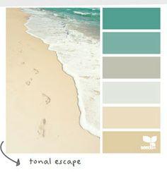Coastal and Beach Decor: Coastal Decor Color Palette - Tonal Escape