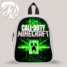 Minecraft Call Of Dutty Kid School Bag Backpacks for Child