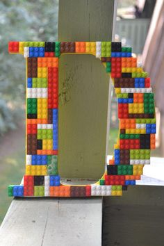 decorated wood letters for a boy room - Google Search