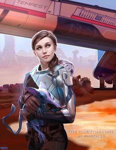 Sara Ryder (Mass Effect Andromeda) by VINTEM.deviantart.com on @DeviantArt