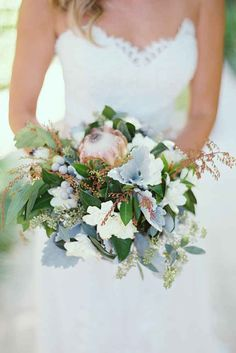 Purple And Blue Wedding Bouquets ❤ See more: http://www.weddingforward.com/purple-blue-wedding-bouquets/ #weddings