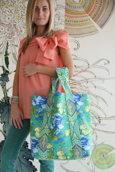 Amy Butler's Alchemy Fabrics with The Spice Market Tote