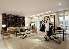 The new Chanel boutique, inspired by Coco Chanel's apartment, on Avenue Montaigne in Paris