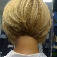 Perfect Bob---- Straight line Bob or a zero degree Bob, very classic, yet it looks like its been nicely textured around the perimeter which gives it volume and doesnt make it look blunt. Fabulous!