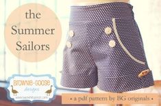 Summer Sailors from BG Originals | Tween PDF Pattern MasterList