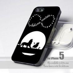 Black And White Hakuna Matata Infinity 5 Design for iPhone 5 case