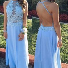 Long Chiffon Long Blue Simple Popular Cheap Prom Dresses,PD0070 The dress is fully lined, 4 bones in the bodice, chest pad in the bust, lace up back or zipper back are all available, total 126 colors