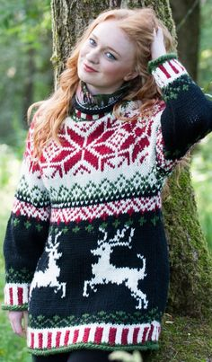 Christmas chunky sweater fit Woolyknit