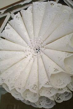 DIY Paper Doily Wreath Tutorial www.adiamondinthestuff.com