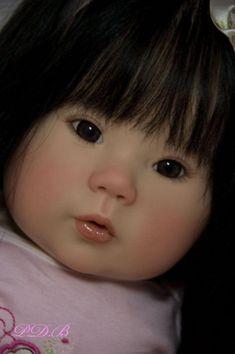 Custom Order Kana by Ping Lau ~Small Toddler Doll Asian Baby Girl~ Reborn Toddler, Toddler Dolls, Reborn Baby Dolls, Cute Baby Dolls, Cute Babies, Baby Kids, Reborn Dolls Silicone, Asian Babies, Fashion Royalty Dolls