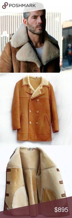 Vintage Shearling Sheepskin Jacket Stunning Vintage Unisex Shearling Sheepskin Jacket. Size Large.  Double breasted, horn buttons, in excellent condition. Vintage Jackets & Coats