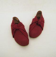 80s Shoes Vintage Romeo Gigli Designer Burgundy Wrap Flats 6.5 via Etsy
