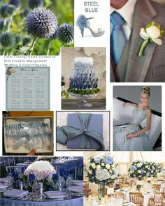 DLG Creative Management Gallery - Ideas, inspirations when using the color Steel Blue for your wedding or event - find us at mywedding.com