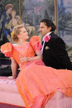 Sarah Nealis as Mabel Chiltern and Elijah Alexander as Lord Goring in An Ideal Husband, 2008. #calshakes30th