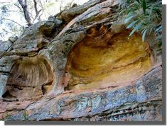 Two very large worn areas in the pagoda rock formation could almost be used as shelter areas - Hands on the Rock Ulan near Mudgee