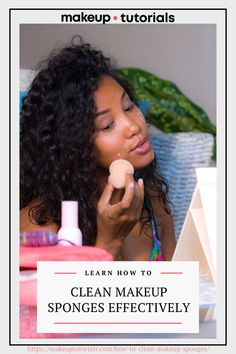 As much as I love using makeup sponges, it is a huge chore to clean them up. However, it's an absolute necessity that we regularly clean our blenders. To ease the burden, I rounded up the best and easiest ways to sanitize our sponges. How To Do Makeup, Clean Makeup, Makeup Tips, Clean Beauty, Diy Beauty, Beauty Hacks, Best Beauty Blender, Makeup Sponges, Beauty Sponge