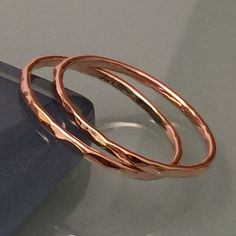 2 Sets Of Rose Gold Band Rings