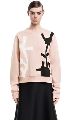 Bird potato nude/black/white potato sweatshirt #AcneStudios #PreFall2014