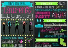 New Orleans Wigging Out Bachelorette Party by OohLaLlew on Etsy, $3.00