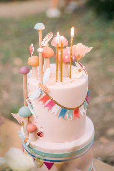Fall Birthday Cakes, Fairy Birthday Cake, Birthday Cake Girls, 1st Birthday Party Ideas For Girls, Birthday Parties, Fairytale Birthday Party, Cupcakes, Girl Cakes, Pretty Cakes