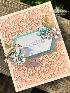 Free as a Bird Embossed Cards, Beautiful Handmade Cards, Friendship Cards, Stamping Up Cards, Bird Cards, Animal Cards, Cards For Friends, Paper Cards, Homemade Cards