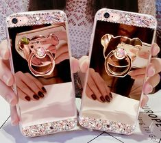 iPhone X XS MAX XR 7 8 plus bling bling Soft TPU Mirror Cases with Bear Stand for iphone 6 7 plus edge plus Iphone 6 Cases, Iphone 5s, Iphone 7 Plus, 5s Cases, Cheap Iphones, Lg G3, S8 Plus, S7 Edge, V10