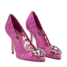 Dolce & Gabbana - Dolce & Gabbana 'belluci' Pumps - FUXIA, Women's High-heeled shoes | Italist