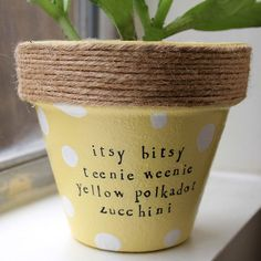 Plant puns 'n' pots by PlantPuns on Etsy Cute!
