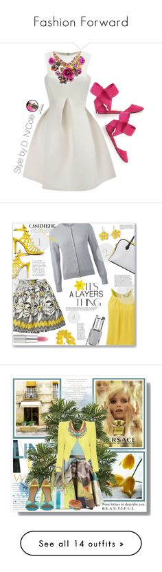Fashion Forward by contessa-bush on Polyvore featuring polyvore fashion style WithChic clothing Alice + Olivia Delicious Balmain Marc by Marc Jacobs TheBalm Mixit cutecardigan springlayers Versace Nearly Natural Ermanno Scervino Chalayan V°73 Sigerson Morrison Tom Binns Ghost Vero Moda A Wear Betsey Johnson Elie Saab Hoss Intropia women's fashion dresses vestido navy blue floral skater dress navy blue floral dress floral dress flower print dress navy blue skater dress River Island Alexander…