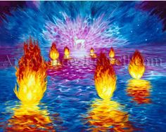 "7 SPIRITS OF GOD - Revelation 4:5 ""And from the throne proceeded lightnings, thunderings, and voices. Seven lamps of fire were burning before the throne, which are the seven Spirits of God."""
