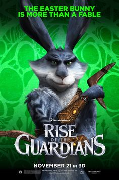 Rise of the Guardians. I love how Bunny isn't just the cute lil Easter bunny. He's this tough Australian warrior... Who DOES resemble a kangaroo, now that Jack Frost has said it.