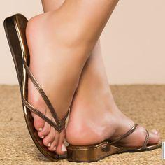 Tongs femme Bronze taille 38, achat en ligne Tongs femme sur MODATOI