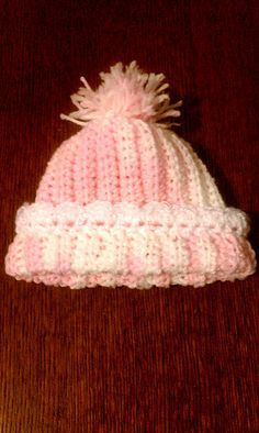 Baby Hat with Ribbing free crochet pattern