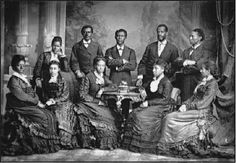"FISK JUBILEE SINGERS   |  On Nov. 16, 1871, a group of unknown singers — all but two were former Slaves — arrived at Oberlin College in Ohio to perform before a national convention of ministers.  The Jubilee Singers presented a selection of spirituals and other songs associated with slavery.  ""They said you could hear the soft weeping…because sometimes when you think about what you are singing, particularly if you believe it, you can't help but be moved."" -Horace C. Boyer, musicologist."