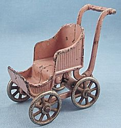 Kilgore T-84 – Toy Baby Carriage / Stroller- Lavender